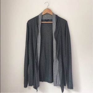 GAP Oversized Lightweight Gray Open Cardigan Sz L